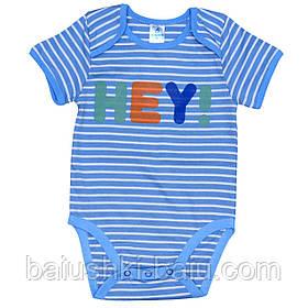 Боди футболка для новорожденного мальчика трикотажная, р. 68
