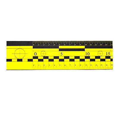 Лінійка масштабна магнітна 15 см жовта
