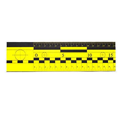 Лінійка масштабна магнітна 15 см жовта, фото 2