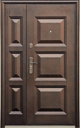 Двустворчатые (полуторные) входные двери ТР-С 143 Китай. Наружные на улицу. Утепленные минватой, фото 2