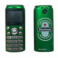 Мини телефон Bluetooth Гарнитура GTStar K8 X8 Heineken Зеленый