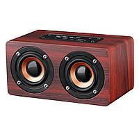 Портативная Bluetooth Колонка TopRoad Wooden Dark Деревянная