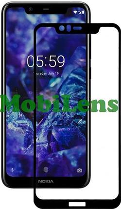 Nokia 5.1 Plus, TA-1105, TA-1109 Захисне скло чорне, фото 2