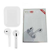 Беспроводные наушники TWS V33 White Bluetooth 5.0