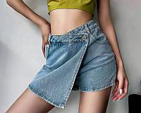 Жіноча стильна джинсова спідниця-шорти, фото 1