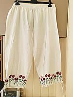 Легкие хлопковые брюки с вышивкой размера плюс Magnet