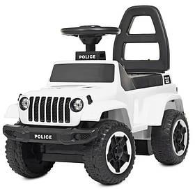 Толокар автомобиль для прогулок. муз, свет, USB, д65-ш33-в50см, на бат-ке, белый