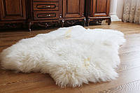 Коврик из натуральных овечьих шкур белый четверка 4в1