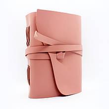 Кожаный блокнот COMFY STRAP А5 14.8 х 21 х 4 см Чистый лист Пудровый (049)