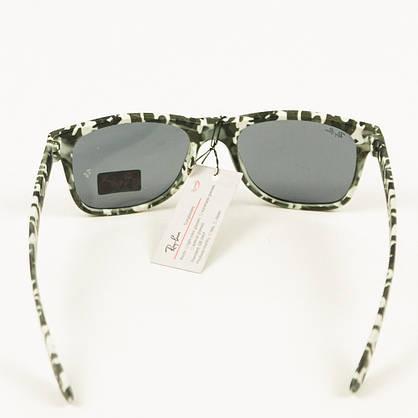 Оптом солнцезащитные очки Ray-Ban Wayfarer унисекс со стеклянной линзой и оправой хаки - 048, фото 3