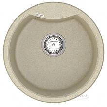 Кухонная мойка Vankor Vena 47,5x47,5 beige + сифон (VMR 01.48)