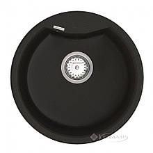 Кухонная мойка Vankor Vena 47,5x47,5 black + сифон (VMR 01.48)
