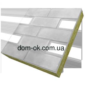 Термопанели фасадные на основе ваты , фактура Гладкий кирпич, размер 500х500мм, толщина 50 мм