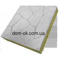 Термопанели фасадные на основе ваты , фактура Бутовый камень, размер 500х500мм, толщина 150