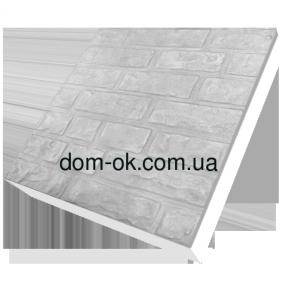 Термопанели фасадные на стеродуре , фактура Колотый кирпич, размер 500х500мм, толщина 100 мм