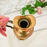 Винтажный бронзовый кувшин с ручкой, бронза, литье, Германия, 21 см, фото 4