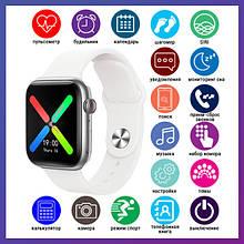 Смарт годинник Розумні годинник Smart Watch T500 Plus з сенсорним екраном і пульсометром голосовий виклик білі