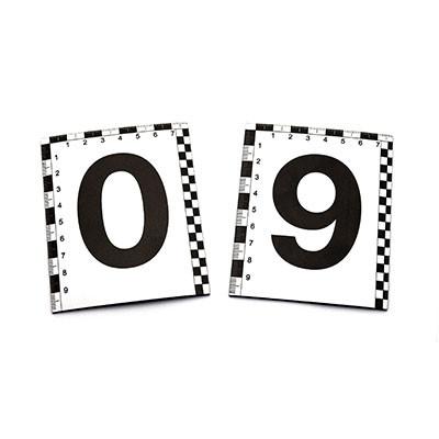 Набір магнітних номерків 0-9 зі шкалою