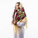 Українська хустка з тороками 120х120см, фото 7