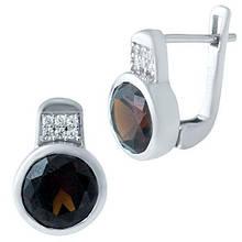 Срібні сережки SilverBreeze з натуральним гранатом 4.057 ct (1945797)