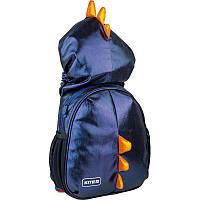 Рюкзак Kite Kids Black Dino K21-567XS-2 с капюшоном