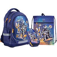 Рюкзак школьный Kite + пенал + сумка для обуви Space Skating SET_WK21-724S-2