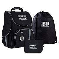 Каркасный ортопедический рюкзак Kite  + пенал + сумка для обуви SET_JV21-501S FC Juventus