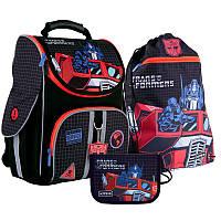 Рюкзак школьный ортопедический Kite Германия + пенал + сумка для обуви SET_TF21-501S Transformers