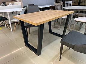 Стол обеденный Бинго каркас Черный бархат, столешница ДСП Вествуд 1200*750 мм (Металл дизайн)