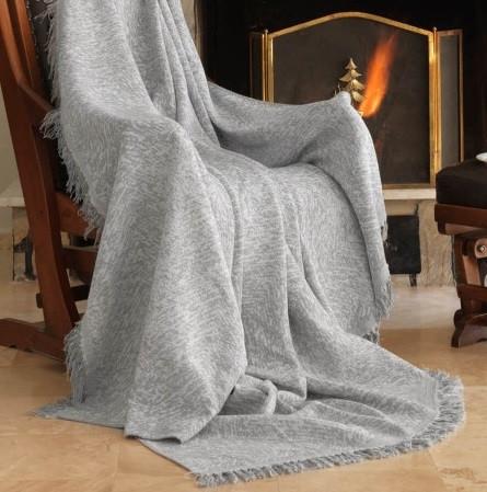 Плед-накидка Eponj Home Buldan Keten - Linen 170*220 gri сірий