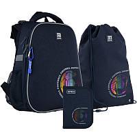 Каркасный ортопедический рюкзак Kite + пенал + сумка для обуви Football SET_K21-531M-6