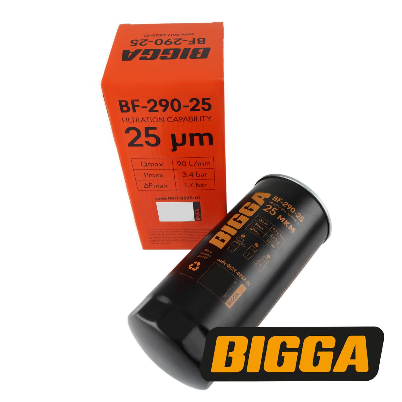 BF-290-25 Фільтр тонкого очищення дизельного палива, до 90 л/хв, 25 мкм, BIGGA