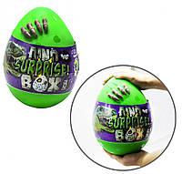 """Набір креативного творчості в яйці """"Dino Surprise Box"""" DSB-01-01U, 15 предметів для творчості (Зелений)"""