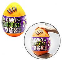 """Набір креативного творчості в яйці """"Dino Surprise Box"""" DSB-01-01U, 15 предметів для творчості (Помаранчевий)"""