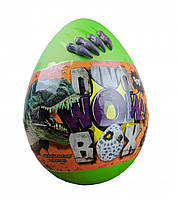 """Дитячий набір для творчості в яйці """"Dino WOW Box"""" DWB-01-01U, 20 предметів (Зелений)"""