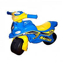 Толокар мотоцикл Doloni 0139/1/6 музичний (блакитний)