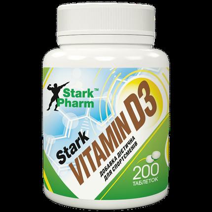 Vitamin D3 2000 IU Stark Pharm 200 таб, фото 2