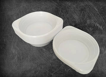 Тарелка пластиковая одноразовая глубокая 500 мл. Суповая тарелка. Одноразовая посуда