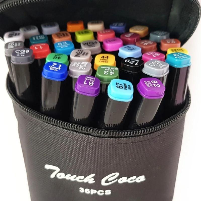 Скетч маркеры Thiscolor 36 шт | Набор двусторонних маркеров для рисования и скетчинга на спиртовой основе