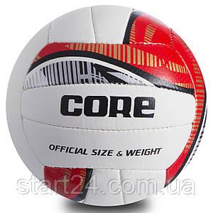 Мяч волейбольный COMPOSITE LEATHER CORE CRV-038 (COMPOSITE LEATHER, №5, 3 слоя, сшит вручную)