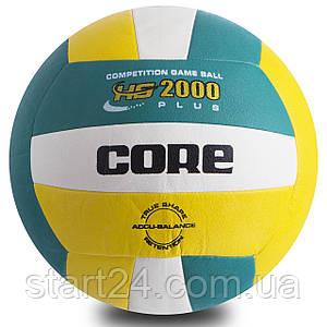 Мяч волейбольный PU CORE HYBRID CRV-029 (PU, №5, 3 слоя, сшит машинным способом)