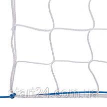 Сітка для волейболу ЄВРО SO-2074 (PP 3мм, р-н 9,5х1м, осередок 10х10см, з метал. тросом, білий, чорний-білий), фото 2