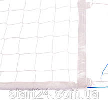 Сітка для волейболу ЄВРО НОРМА ЛАЙТ SO-2078 (PP 3мм, р-н 9,5х1м, осередок 10х10см, з метал. тросом, білий,, фото 2