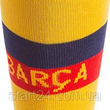 Гетры детские с символикой футбольного клуба BARCELONA AWAY 2020 ETM2001-BAR2 (размер 32-39, желтый), фото 3