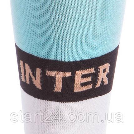 Гетры детские с символикой футбольного клуба INTER MILAN AWAY 2020 ETM2009-IM2 (размер 32-39, голубой-белый), фото 2