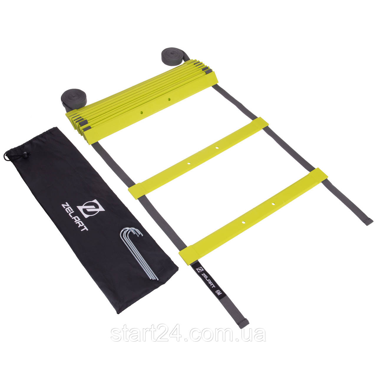 Координационная лестница дорожка для тренировки скорости 6м (13 перекладин) MODERN FI-2565 (MD1363) (6*0,47м,