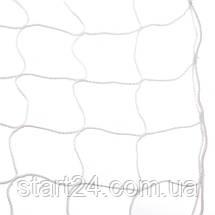 Сітка на ворота футбольні тренувальна безузловая (2шт) ЄВРО 1 SO-2320 (PP 3мм, осередок 10см, р-н 2,6х7,5м,, фото 2