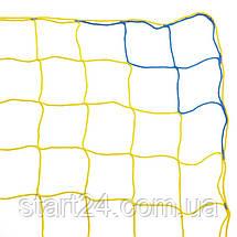 Сетка на ворота футбольные тренировочная безузловая (2шт) ЕВРО ЭЛИТ 1 SO-2323 (PP 4мм, ячейка 12см, р-р, фото 2