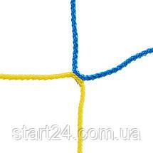 Сетка на ворота футбольные тренировочная безузловая (2шт) ЕВРО ЭЛИТ 1 SO-2323 (PP 4мм, ячейка 12см, р-р, фото 3