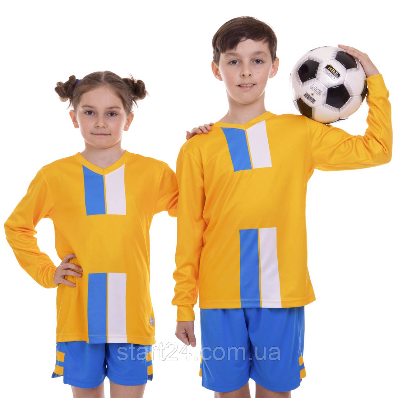 Форма футбольная подростковая с длинным рукавом SP-Sport CO-2001B-1 (PL, р-р 24-30, 120-150см, цвета в